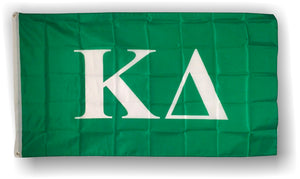 Kappa Delta - 3'x5' Flag with White Letters and Greek Background