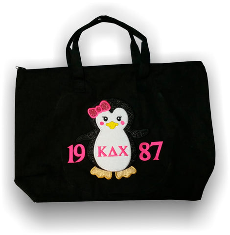 Kappa Delta Chi - Penguin Canvas Bag with Inner Pocket