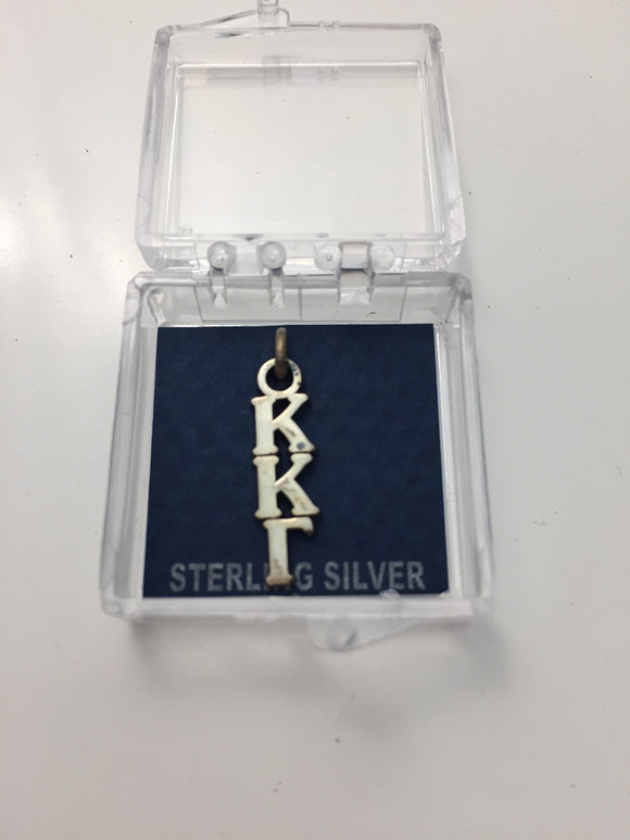 Kappa Kappa Gamma - Sterling Silver Lavalier Charm with Greek Letters