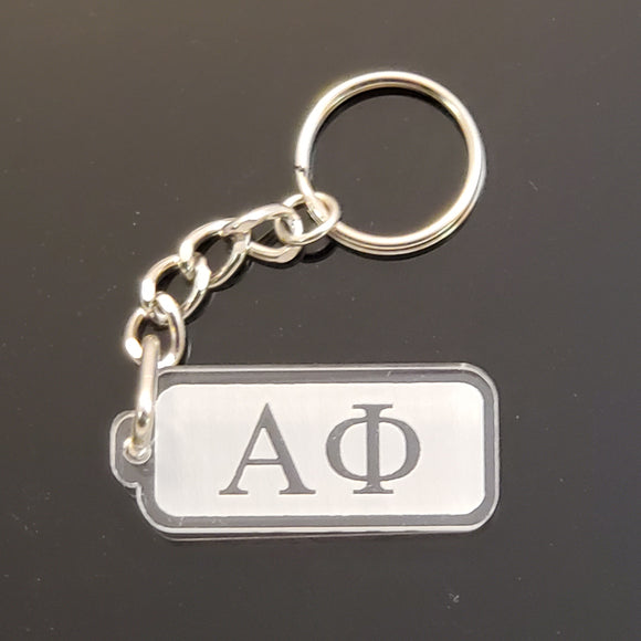 Alpha Phi - Acrylic Keychain with Greek Letters - AF-02-KEY-RCT