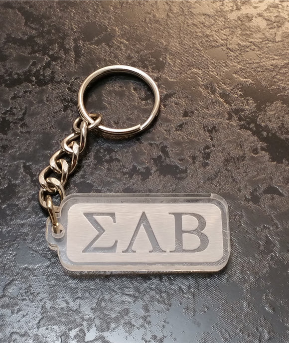Sigma Lambda Beta - Acrylic Keychain with Greek Letters - SLB-02-KEY-RCT
