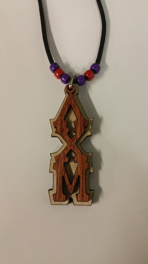 Lambda Chi Mu - Genuine African Bubinga and Maple Tiki