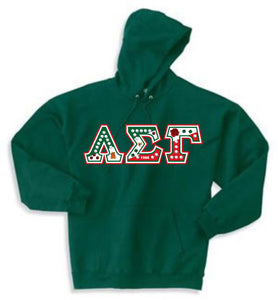 Lambda Sigma Gamma - Hoodie with LSG Flag Letters and Double Stitched
