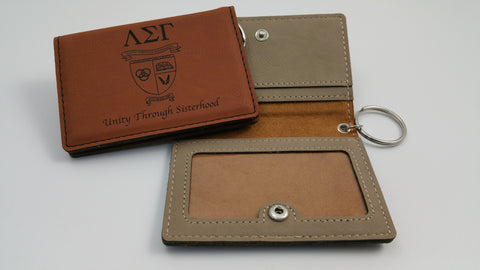 Lambda Sigma Gamma - Simulated Leather ID Holder
