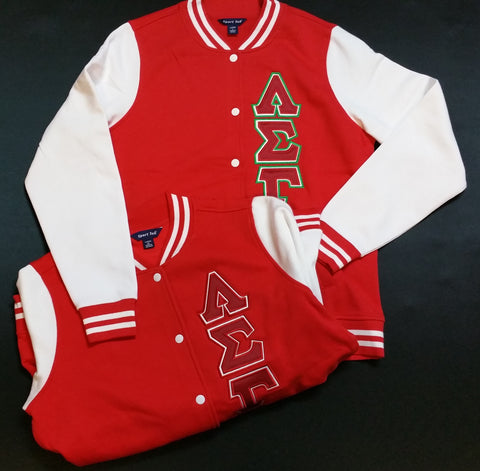 Lambda Sigma Gamma - Fleece Letterman Style Jacket