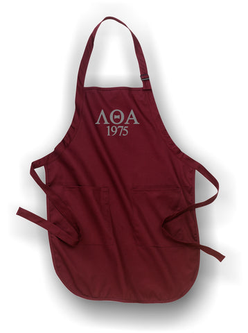 Lambda Theta Alpha - A500 Burgundy Apron with Pockets
