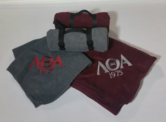 Lambda Theta Alpha - BP10  Port Authority® - Value Fleece Blanket with Strap