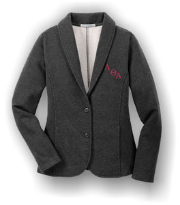 Lambda Theta Alpha - L298 Dark Charcoal Heather Ladies Blazer