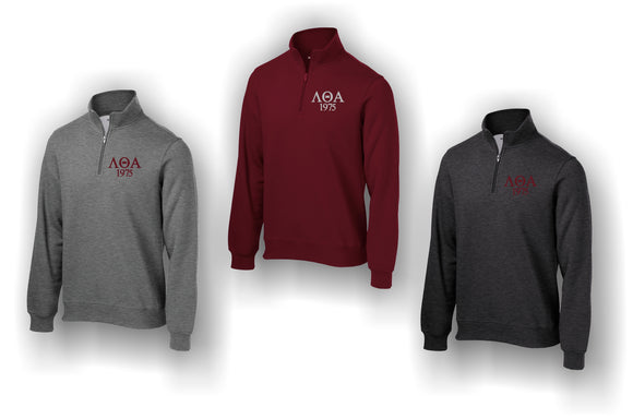 Lambda Theta Alpha - Fleece Quarter Zipper Sweatshirt