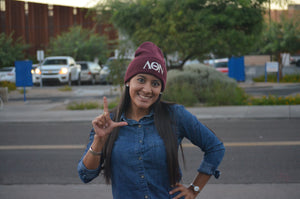 Lambda Theta Nu - Beanie with Silver or White Letters