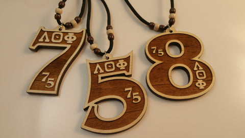 Lambda Theta Phi - Assorted Wood Number Tikis
