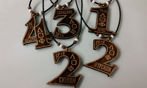 Lambda Theta Phi - Genuine wood Personalized Number Tiki