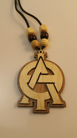 Lambda Theta Phi - Wood Interlocking Letter Tiki