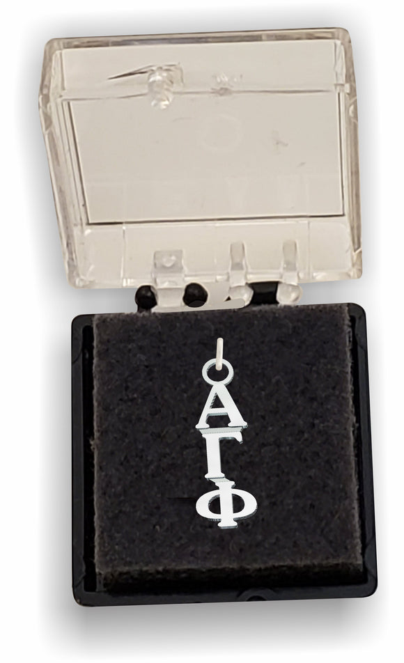 Alpha Gamma Phi - Lavalier, Sterling Silver; AGF-LVLR