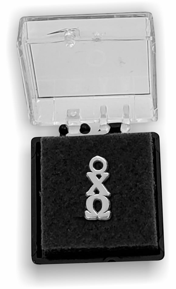 Chi Omega - Lavalier, Sterling Silver; CW-LVLR