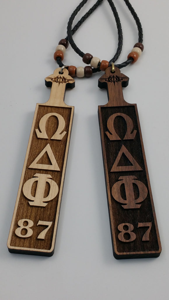 Omega Delta Phi - Traditional Paddle Wood Tiki