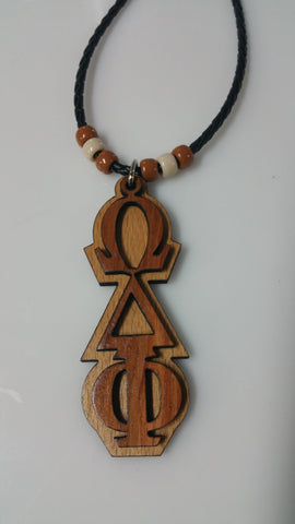 Omega Delta Phi Tiki with African Bubinga Front and European Beech Back