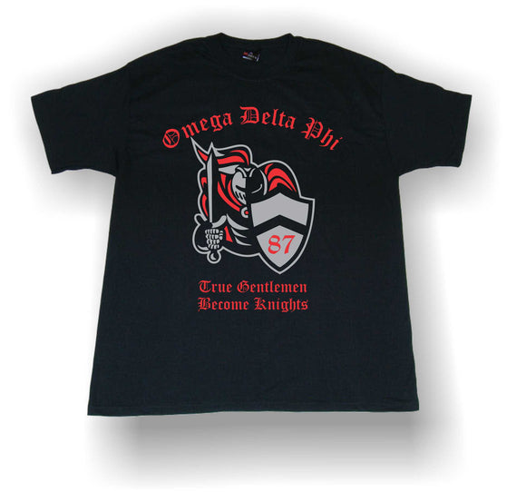 Omega Delta Phi - Knight Shirt with True Gentlemen Become Knights