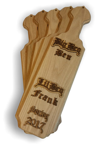 Paddle - Oak with Walnut and Oak Letters - Kit
