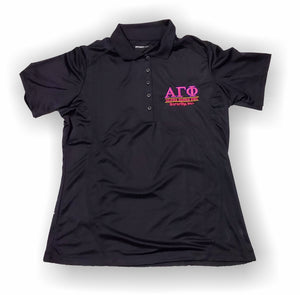 Alpha Gamma Phi – Ladies Polo Shirt, Embroidered - L475 Dry Zone® Sport-Tek®