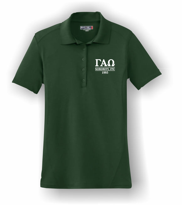 Gamma Alpha Omega – Ladies Polo Shirt, Embroidered - L475 Dry Zone® Sport-Tek®