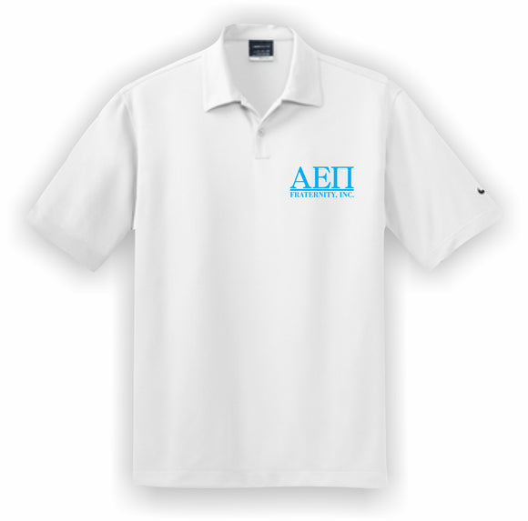Alpha Epsilon Pi – Polo, Embroidered - Nike Dri-FIT Pebble Texture Polo – 373749