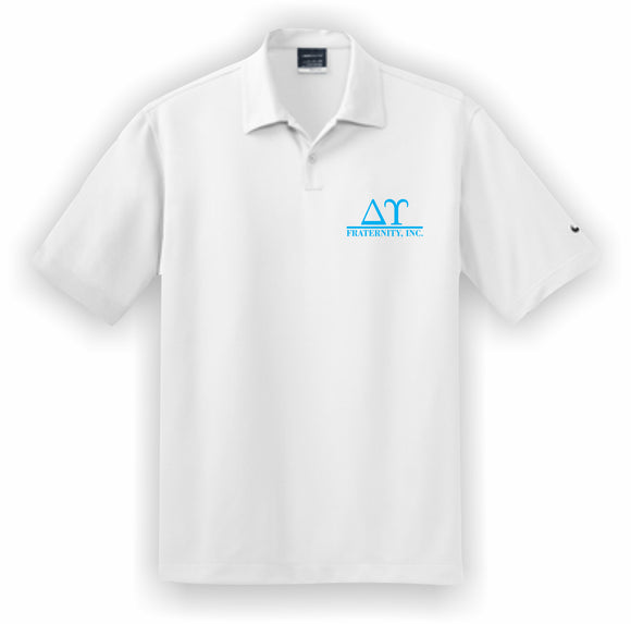 Delta Upsilon – Polo, Embroidered - Nike Dri-FIT Pebble Texture Polo – 373749