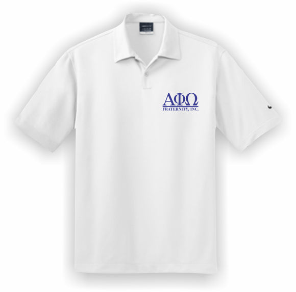 Alpha Phi Omega – Polo, Embroidered - Nike Dri-FIT Pebble Texture Polo – 373749