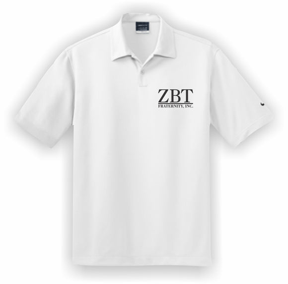 Zeta Beta Tau – Polo, Embroidered - Nike Dri-FIT Pebble Texture Polo – 373749