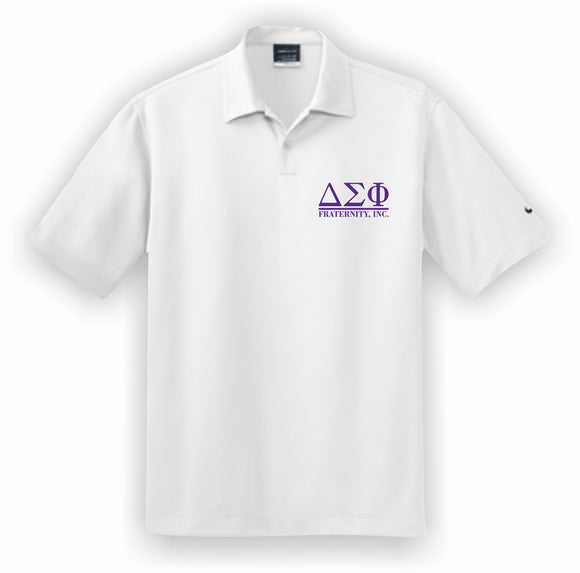 Delta Sigma Phi – Polo, Embroidered - Nike Dri-FIT Pebble Texture Polo – 373749