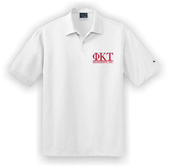 Phi Kappa Tau – Polo, Embroidered - Nike Dri-FIT Pebble Texture Polo – 373749