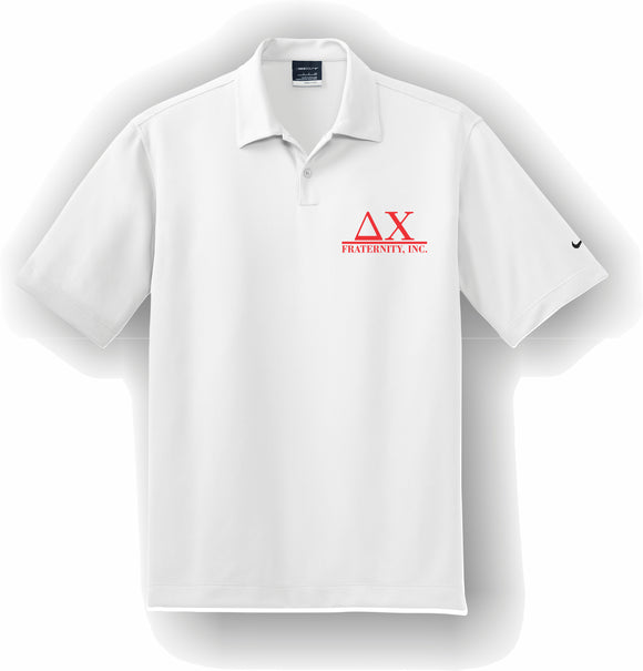 Delta Chi – Polo, Embroidered - Nike Dri-FIT Pebble Texture Polo – 373749