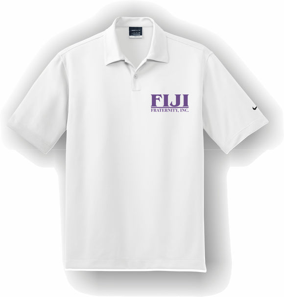 Phi Gamma Delta, FIJI – Polo, Embroidered - Nike Dri-FIT Pebble Texture Polo – 373749