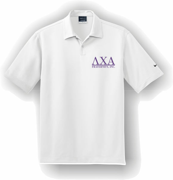 Lambda Chi Alpha – Polo, Embroidered - Nike Dri-FIT Pebble Texture Polo – 373749