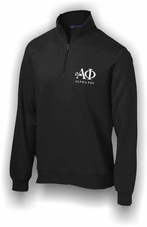 Alpha Phi – 1/4 Zip Sweatshirt, Embroidered – ST253 Sport-Tek®