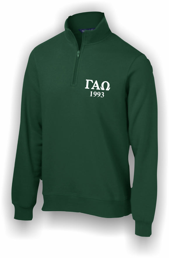 Gamma Alpha Omega – 1/4 Zip Sweatshirt, Embroidered – ST253 Sport-Tek®
