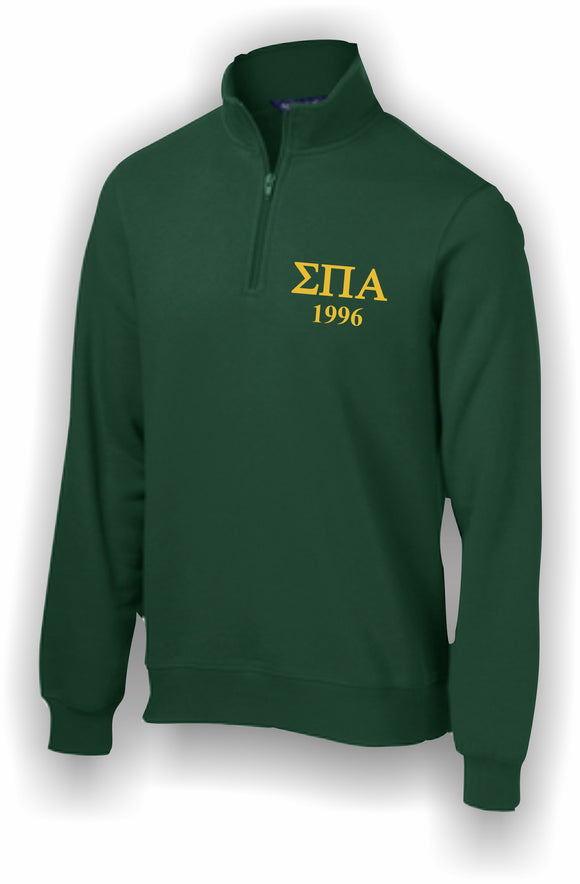 Sigma Pi Alpha – 1/4 Zip Sweatshirt, Embroidered – ST253 Sport-Tek®