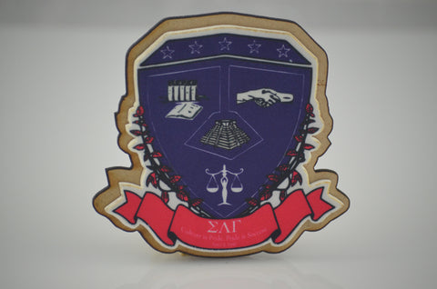 Sigma Lambda Gamma - Crest on Satin