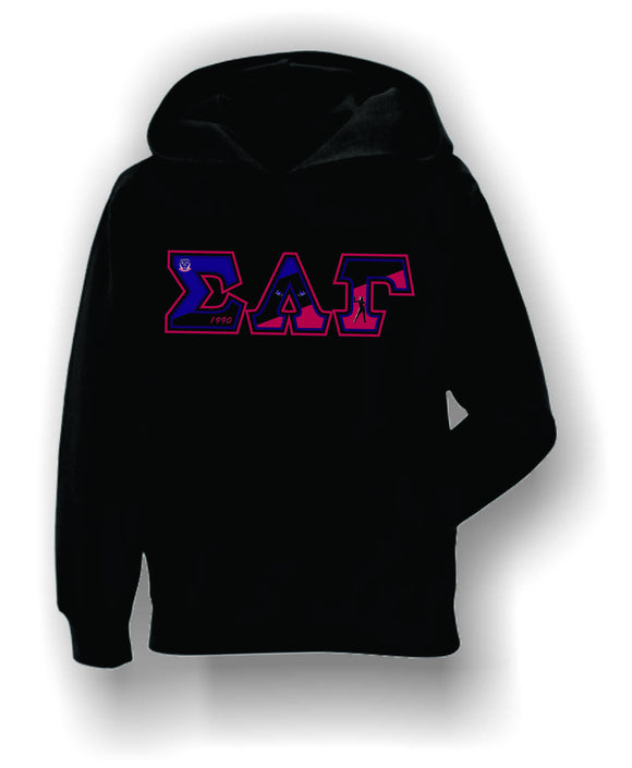 Sigma Lambda Gamma - Flag Letters on Hoodie