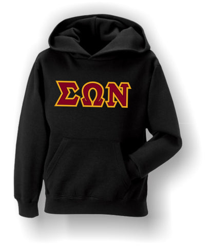 Sigma Omega Nu - Hoodie with Traditional Letters