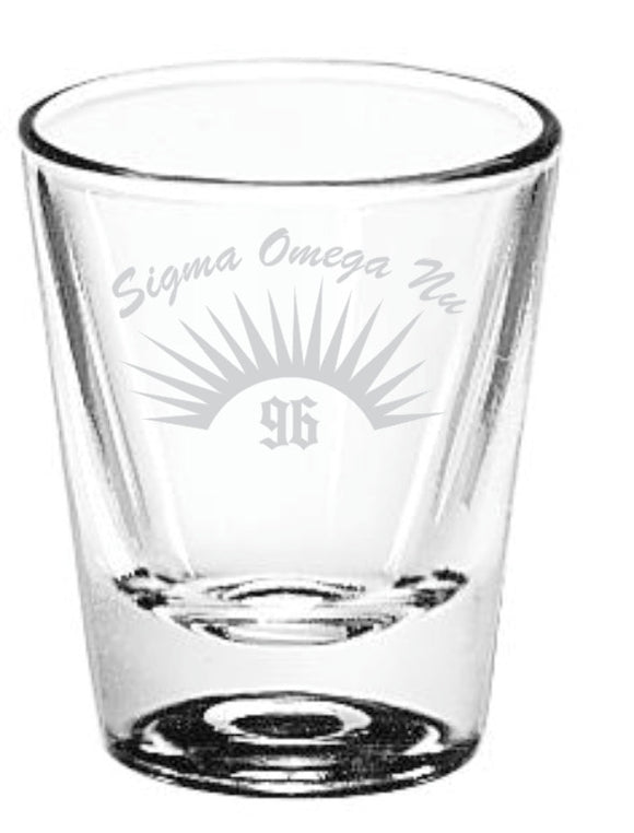 Sigma Omega Nu - Decorative Etched Shot Glass