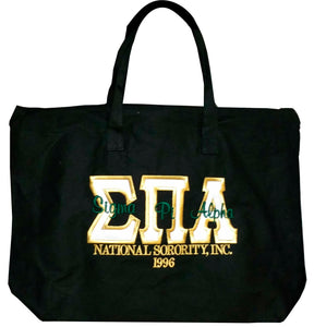 Sigma Pi Alpha - Canvas Hand Bag