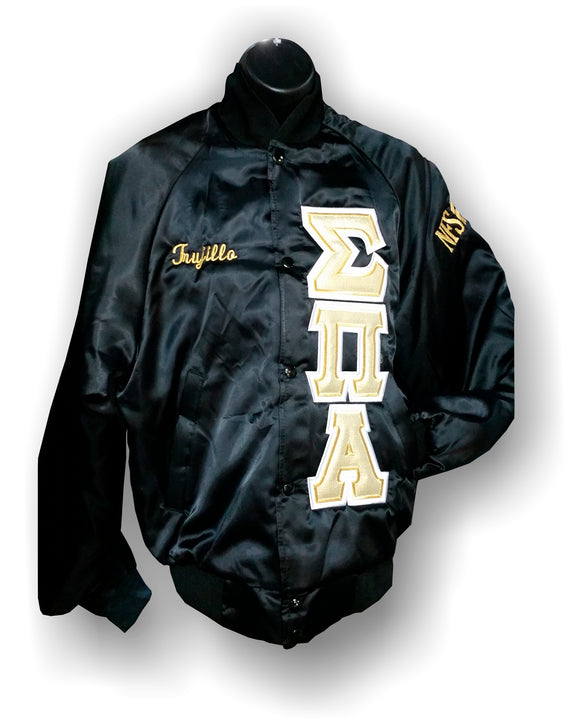 Sigma Pi Alpha - Baseball Jacket with Shield