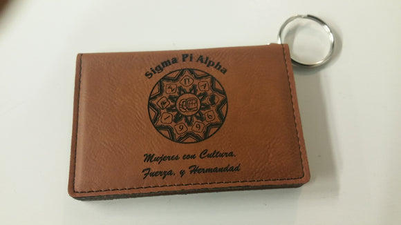 Sigma Pi Alpha - Leatherette ID Holder