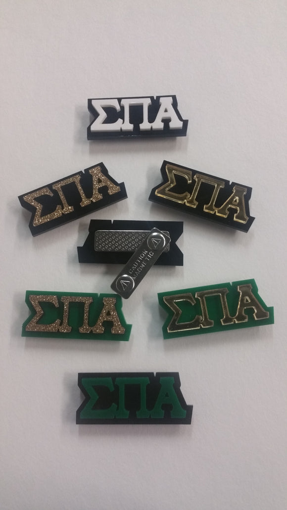 Sigma Pi Alpha - Acrylic Magnetic Pins