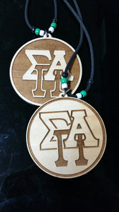 Sigma Pi Alpha - Tiki with Interlocking Letters
