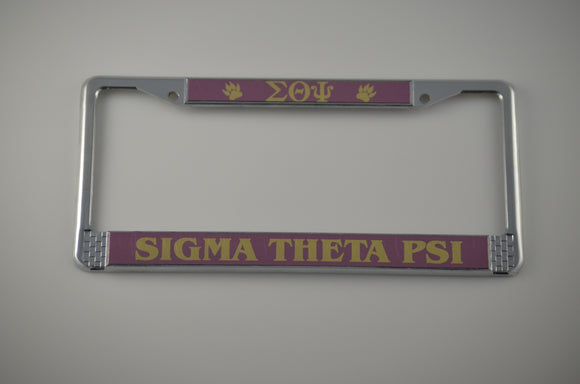 Sigma Theta Psi License Plate with Purple and Gold