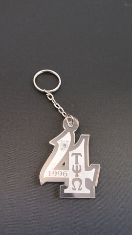 Tau Psi Omega - Number 4 Acrylic Key Chain