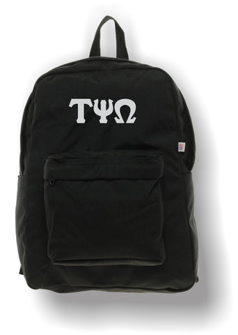 Tau Psi Omega - Backpack by American Apparel with Embroidered Letters