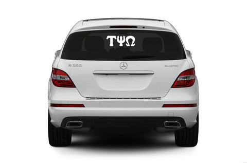 Tau Psi Omega -  Car Decal